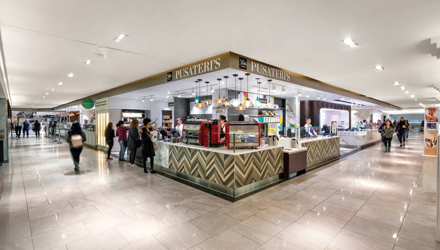 dde7910d Retail Store Design Winner, Small Format The Saks Food Hall by Pusateri's  is located in the heart of downtown Toronto. The iconic space features a  variety ...